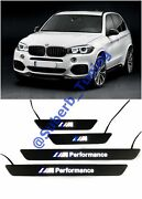 Bmw X5 F15 M-perfomance Style Door Step Led Sills Scuff Plates Set Of 4 Pcs.