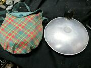 Vintage Girl Scout Canteen, Mess Kit With Plaid Carry Pouch, And Utensil Set