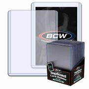 New 15 X 25 375- 3x4 Bcw 2 Mm 79 Pt. Toploaders -sport/trading/gaming Card