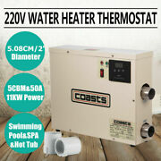 Water Heater Thermostat 11kw Swimming Pool Spa Electric Hot Tub 240v Max Stable