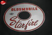 65 Oldsmobile Starfire Air Cleaner Lid Decal Silver