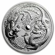 2017 Dragon And Phoenix 1 Oz Silver Bullion Coin Perth Mint. 50000 Only