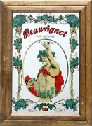Antiques Beauvignot - Bacchus Print On Mirror