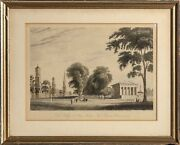 Alexander Jackson Jackson Davis, Yale College And State House, Etching