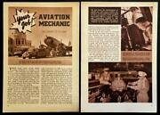 American Airlines Mechanics 1940 Pictorial Dc-3 Curtiss-wright Substratosphere