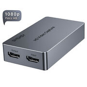Hdmi To Usb Video Capture Card Hd 1080p Record Game Live Streamandreal-time Output
