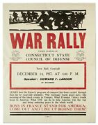 Broadside War Rally Under Auspices Of Connecticut State Council Of Defense..