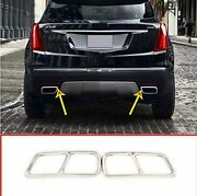 Stainless Steel Rear Exhaust Muffler Tail Pipe Cover For Cadillac Xt5 Xt4 16-18