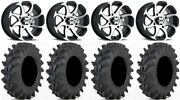 Itp Twister 14 Wheels Machined 28 Outback Max Tires Suzuki Kingquad