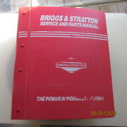Briggs And Stratton Service Repair And Parts Manual 4-cycle Engine Bands 1993