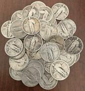 Full Roll Of 40 Standing Liberty Quarters 90 Silver Not Junk
