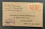 1934 Union City Nj Registered Cover To Jersey City Nj Double Oval Cancel