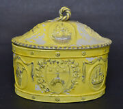 Rare Leeds Pottery Yellow Glazed Butter Tub With Strainer Circa 1780
