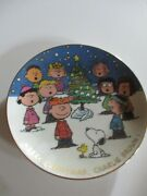 The Peanuts Plate Danbury Mint Merry Christmas Charlie Brown No Stand