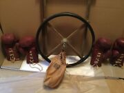 Vintage Benlee Boxing Speed Bag And 2 Pairs Of 30-16 Wilson Leather Gloves 1940's