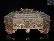 Silver Filigree Inlay Turquoise Red Coral Lapis Lazuli Vajra Jewelry Box Boxes