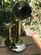 Rare Brass Receiver Western Electric Type C 108c Candlestick Telephone Phone