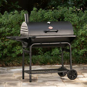 Charcoal Bbq Grill Cooker Smoker Pro Deluxe Xl Large 1000 Sq In Backyard