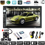 Car Mp5 Player 7 Double 2din Bluetooth Touch Screen Stereo Radio Usb Aux Camera