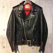 Lewis Leathers Thunderbolt Riders Jacket Mens 34 A Zip Black Vintage From Japan