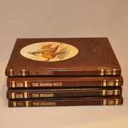 Time Life The Old West Books Leatherette Cowboys Spanish West Indians Soldiers