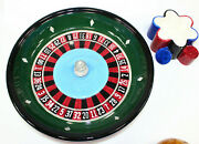 Roulette Wheel Poker Chips Dip Tray Linens And Things Gambling Las Vegas Party