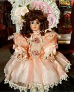 Pat Loveless Jumeau Antique Victorian Reproduction French Doll Peach And Cream 18