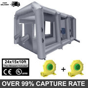 24x15x10ft Inflatable Spray Paint Booth Mobile Tent Portable Car Workstation