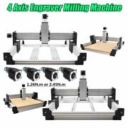 4 Axis Engraver Milling Machine Router Kit With Tingle Tension System Stepper