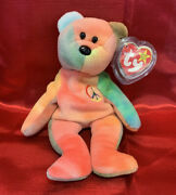 Ty Beanie Baby Peace The Bear 1996 Rare Beanie Baby Great Condition
