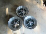 3 Buick Chrome Rims 1970and039s With Lug Nuts