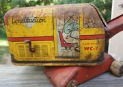 Vintage Wyandotte Construction Crane Wc-7 Rusty Gold Toy As Is