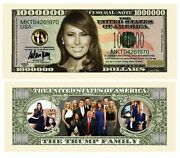 Pack Of 10 - Melania Trump - First Lady - First Family Million Dollar Bills