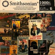 American Military Posters Puzzle / Smithsonian 1000 Pieces/rare Jigsaw Karmin