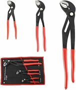 3pcs Water Pump Pliers Set 7and10and16inch Channel Lock Pliers Quick Adjustment
