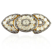 18k Gold Rose Cut Diamond 925 Sterling Silver Knuckle Armor Ring Wedding Jewelry
