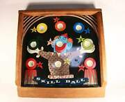 Vintage Skill Ball Clown Tin And Wood Board. Pressman Toy Corp. Made In U.s.a. 220