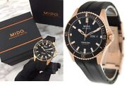 Genuine New Mido Ø42.5mm Ocean Star Captain Automatic Black Dial Watch Andwarranty