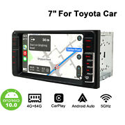 7 Inch Touchscreen Bluetooth 5.1 Wifi Dsp Gps Android 10 Car Radio For Toyota