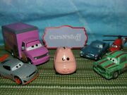 Disney Pixar Cars And Planes Cletus, Finn, Roscoe And More Displayed Only