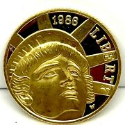 1986-w Us Gold 5 Statue Of Liberty Commemorative Proof Coin