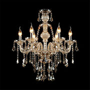 Antique Candle Style Crystal Chandelier Vintage French Chandelier Pendant Light