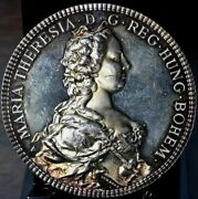 5 Oz Silver Beautiful 1986 Maria Theresia Ultra High Relief 999 Silver Round
