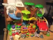 Fisher Price Little People Zoo Talkers Animal Sounds Zoo W/ Jeep And Safari Train
