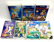 Walt Disney Home Video Sealed Lot Of 7 Vhs Tapes Brand New Vintage Classic