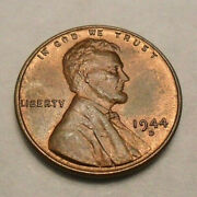 1944 D Lincoln Wheat Cent / Penny Coin Fine Or Better Free Shipping