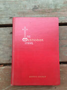 The Methodist Hymnal Hardcover-1966 Edition-red-vintage