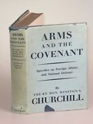 Winston S. Churchill - Arms And The Covenant 1st Edition In First Issue Jacket