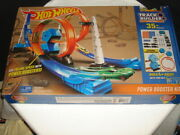 Hotwheels Track Builder System Power Booster Kit 4 Plus Races To Build Euc