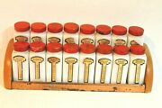 Vintage Griffithand039s Milk Glass Spice Jars With Red Lids Set Of 16 With Rack